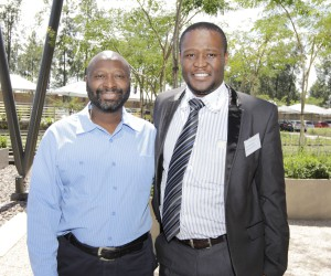 Isaac Makhari, Head of Delivery Management at BT Global Services and one of the previous ITP  successful entrepreneurs Josias Motsoeneng, owner of AC Electromech Maintenance Service.jpg
